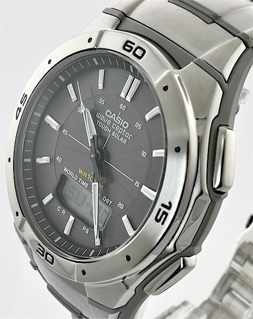 Casio herren armbanduhr mit funk und solar